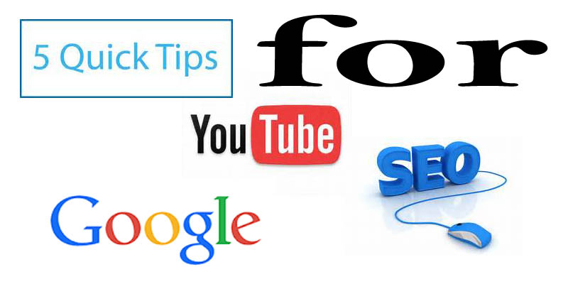 5 quick tips for youtube SEO